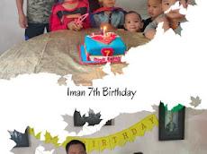 Kek Superman untuk harijadi Iman 7 tahun