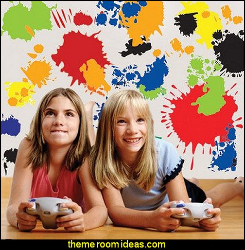 Paint Splatter Wall Decals