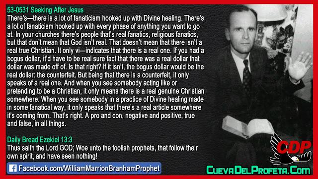 Religious fanatics versus believers - William Branham