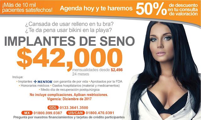 Paquete de Implantes de Seno en Guadalajara