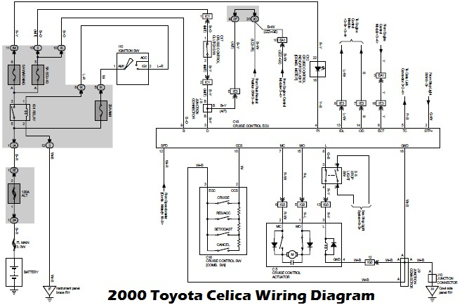 stereo wiring diagram toyota celica