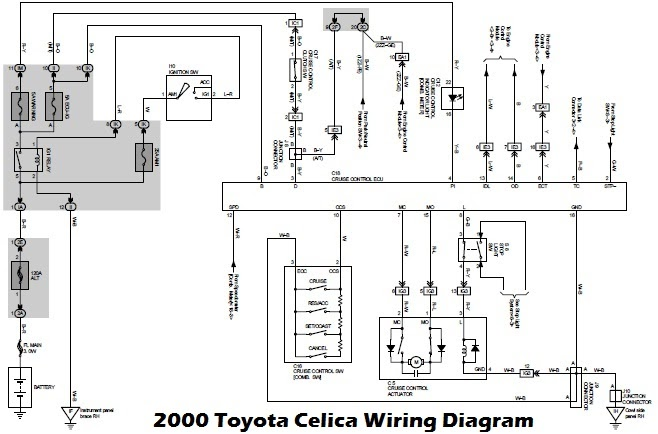 1992 toyota celica audio wiring diagram schematic
