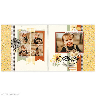 scrapbook layout created with Outdoor Borders
