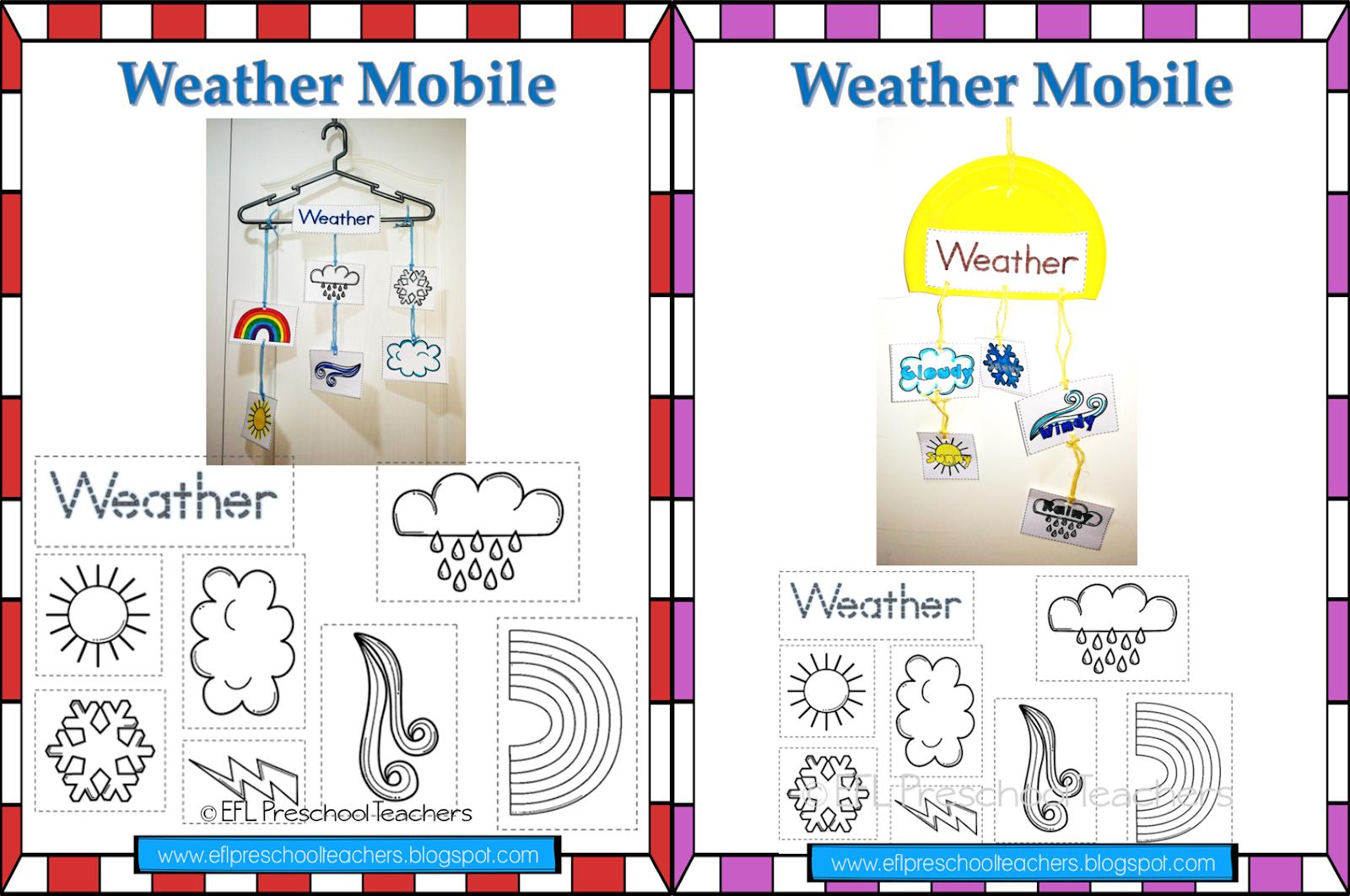Esl Efl Preschool Teachers More Weather Resources For