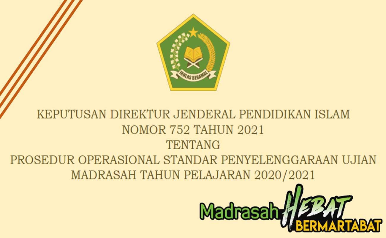 POS Ujian Madrasah Tahun 2021 MI MTs MA