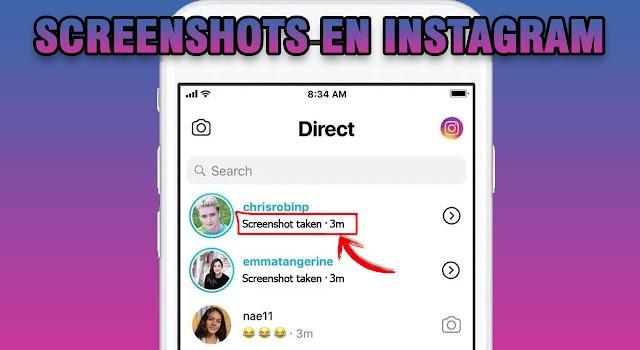 Instagram avisa cuando tomas Screenshot a una conversación?