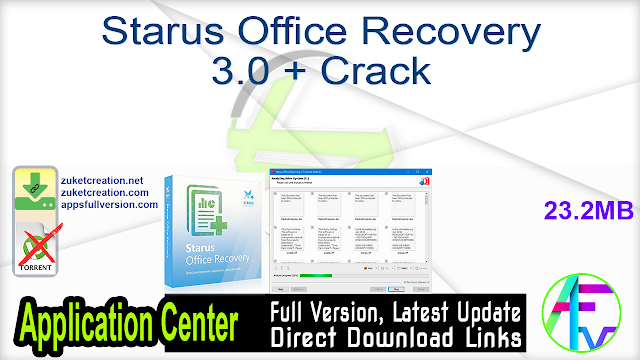 Starus Office Recovery 3.0 + Crack