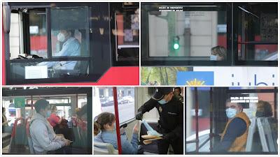 Sin mascarilla no podréis viajar en el transporte público.