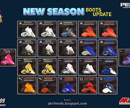 PES 2017 Boot Pack Update Season 2020/2021