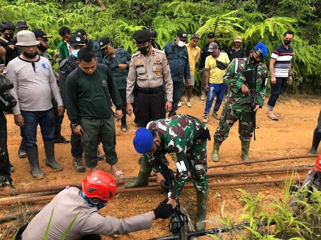 Operasi Satgas Pengeboran Minyak Ilegal di Batanghari, 62 Sumur Ditutup