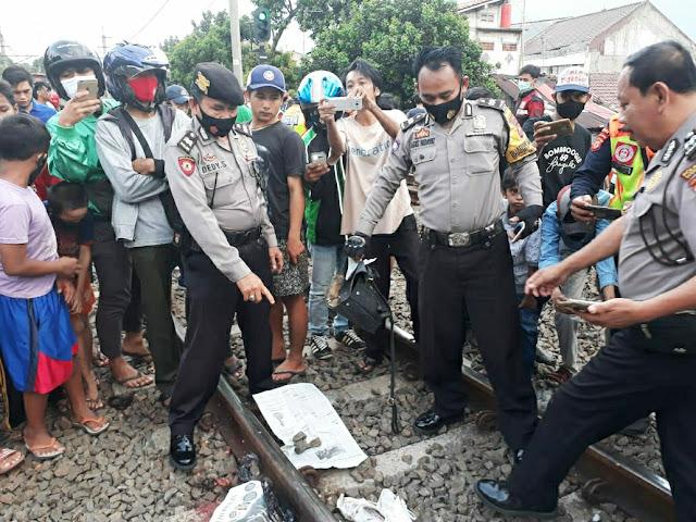 Wanita Paruh Baya Tertabrak KRL di Tanah Sareal Bogor