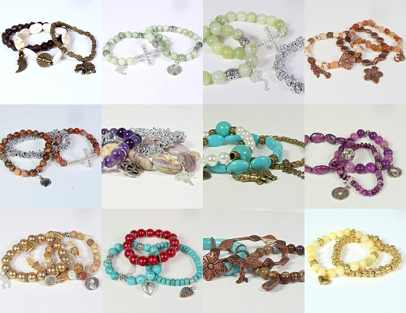 The Stack Bracelets Are Available In My Pink Sunset Jewelry Designs Studio Here