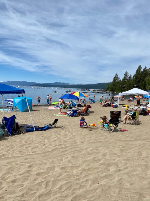 Moondunes beach Lake Tahoe