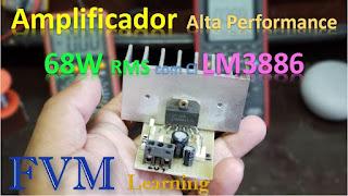 Amplificador Alta Performance 68W RMS com CI LM3886 + PCI