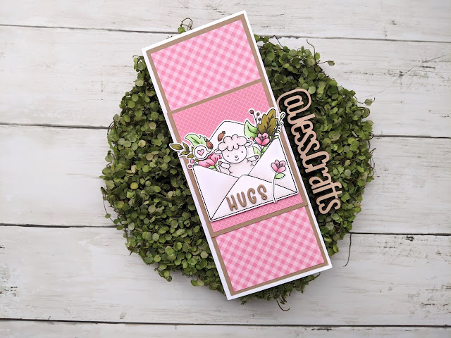 Card for Slimline from 6x6 Paper Template #2 by Jess Crafts featuring Avery Elle Sending Hugs