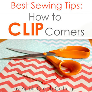 easy sewing tips - how to clip corners
