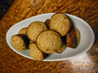 Sourdough Oatmeal Muffins, fresh and ready to serve.