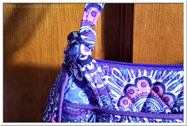 How to turn a Vera Bradley crossbody bag into a shoulder bag tutorial  |  3 Garnets & 2 Sapphires