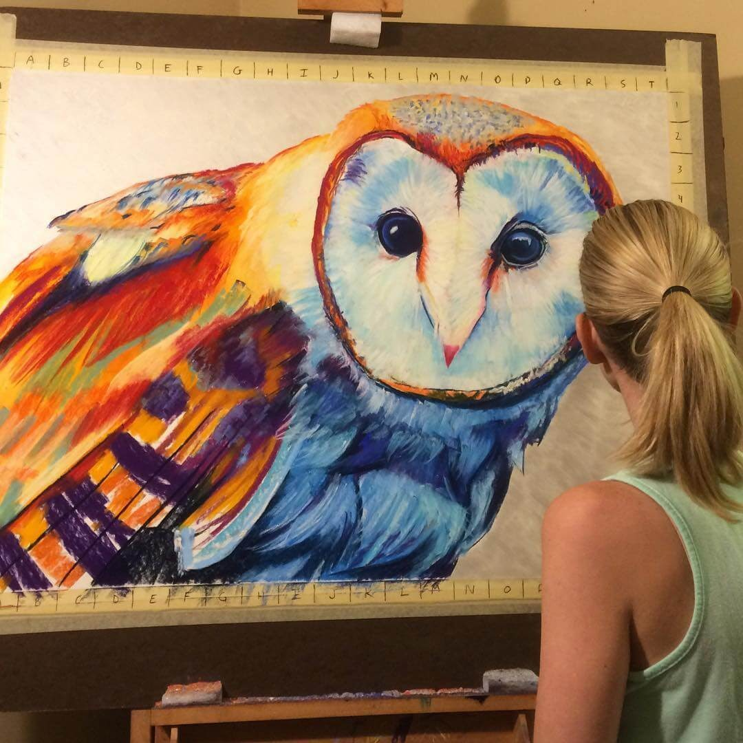 10-Barn-Owl-Large-Scale-Soft-Pastel-Drawings-Of-Wild-Ainimals-www-designstack-co