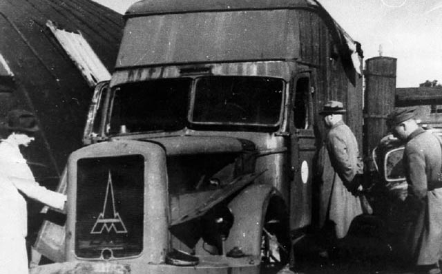 A German gas van during World War II worldwartwo.filminspector.com