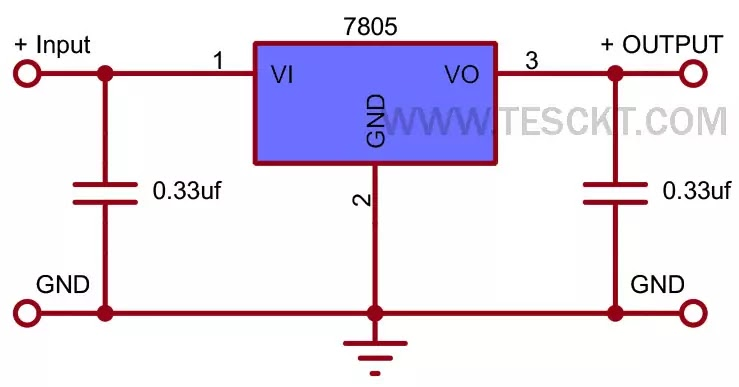 7805 Voltage regulator Arduino