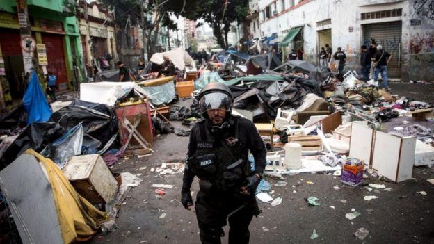 Police raid San Paulo