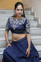 Ruchi Pandey in Blue Embrodiery Choli ghagra at Idem Deyyam music launch ~ Celebrities Exclusive Galleries 053.JPG