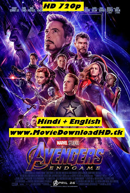 Avengers Endgame 2019 Hindi Full Move Download Dual Audio 720p/480p  HDRip 1.1GB/550MB www.moviedownloadhd.tk