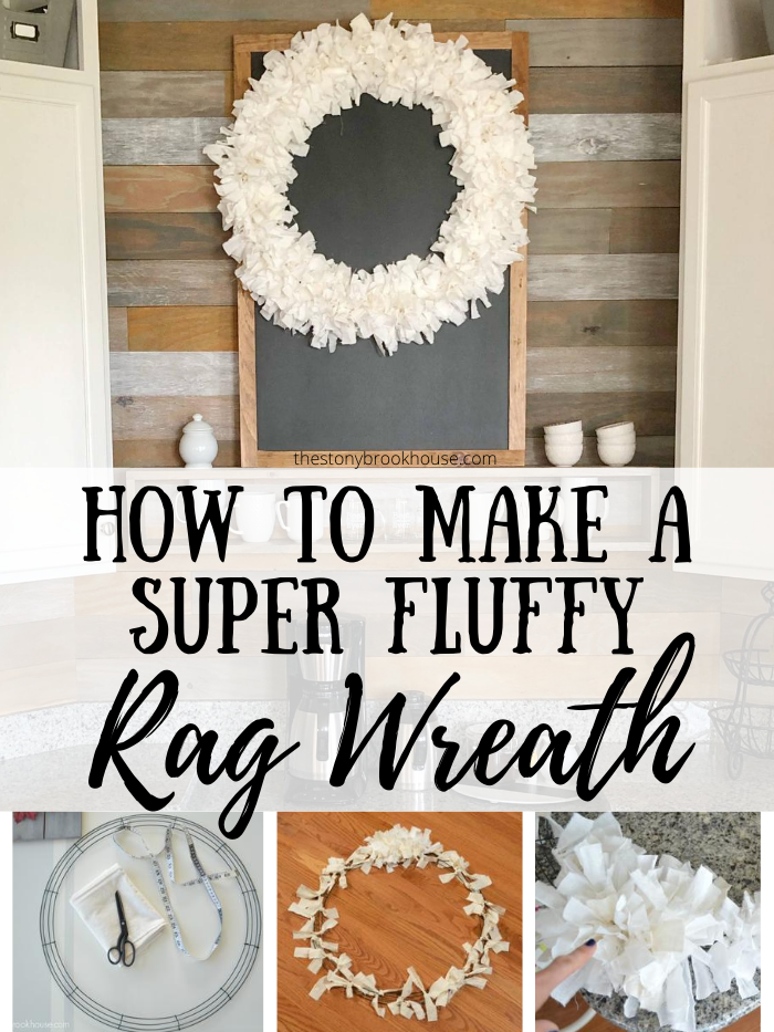 How To Make a Fluffy Rag Wreath