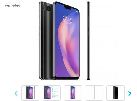 Smartphone Xiaomi Mi 8 Lite 128GB Preto Meia-Noite