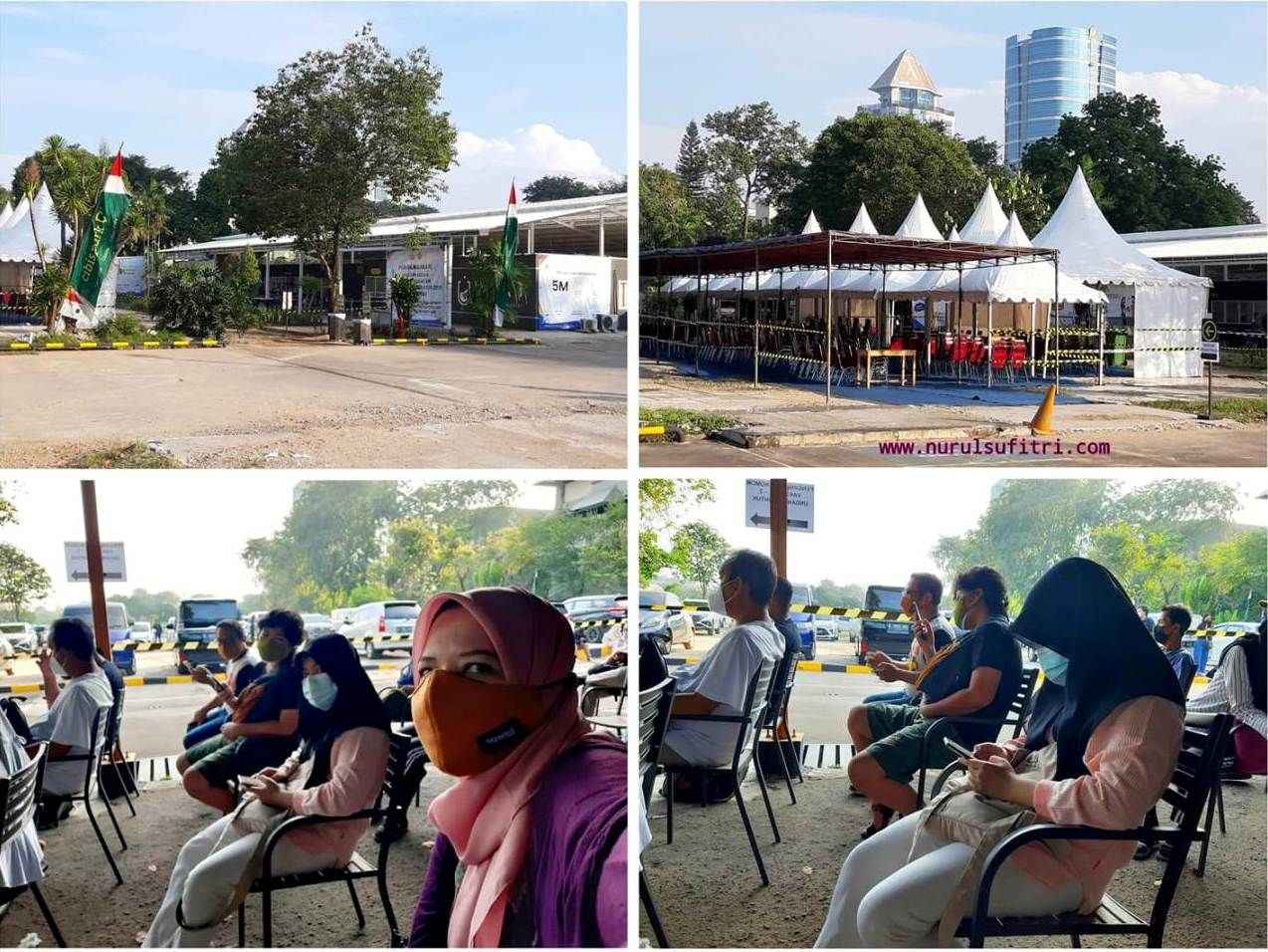 Pengalaman Vaksin SInovac Tahap Dua di Cibis Park Nurul Sufitri Travel Lifestyle Blog