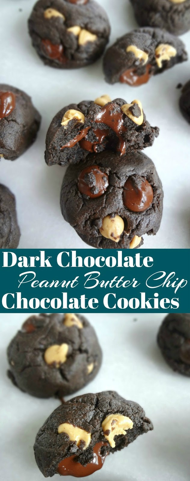 Dark Chocolate Peanut Butter Chip Chocolate Cookies