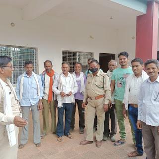 लांजी जनपद के अंतर्गत टेमनी में वन परीक्षेत्र में ग्रामीणों द्वारा वन विभाग को किया जा रहा है सहयोग