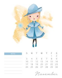 Harry Potter 2019: Calendario  para Imprimir Gratis.