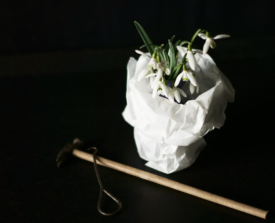 Blog + Fotografie by it's me! - fim.works - Schneeglöckchen in einem Brotbeutel