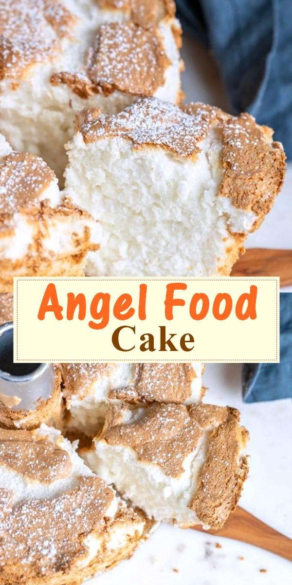 Angel Food Cake #cakerecipes