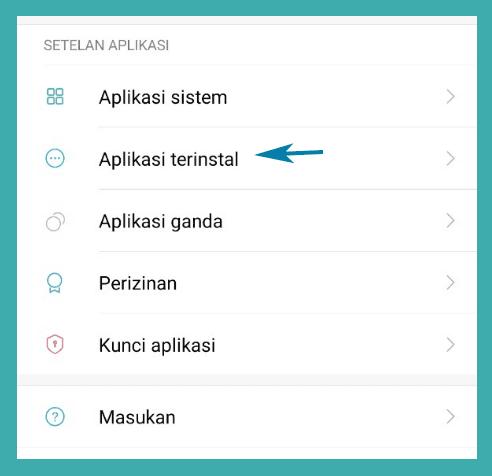 Aplikasi Terinstall