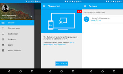 Open Chromecast application on your phone