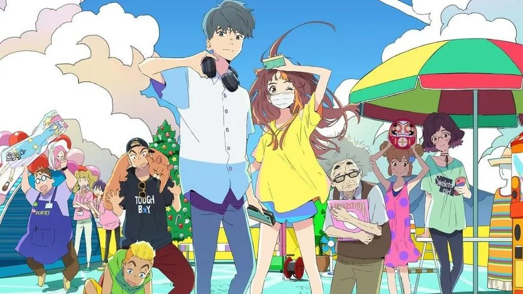 image tirée du film avec les protagonsites entourés des autres personnages