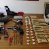 Incautación de estupefacientes, armas y dinero en  Los Cerrillos, Santa Lucía, Parque del Plata y La Paz