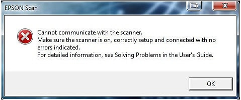 Epson Printer Cannot Communicate With Scanner