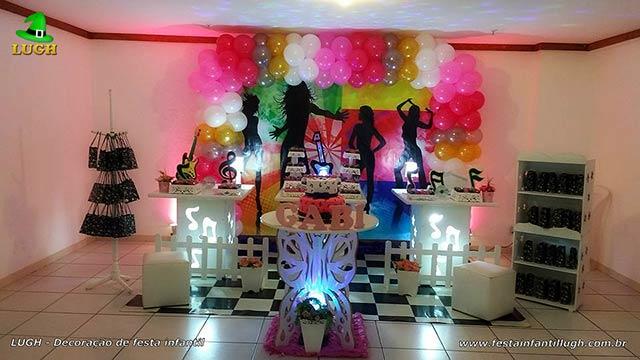 Decoração mesa de aniversário tema Balada - Discoteca -  Festa de adolescentes e adultos