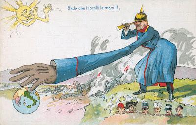 Ο γερμανικός επεκτατισμός, σκίτσο από τα χρόνια του Πρώτου Παγκοσμίου Πολέμου / German imperialism during WWI