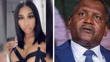 """"""" How my former girlfriend, Autumn Spike tried to extort $5 million from me – Dangote"""