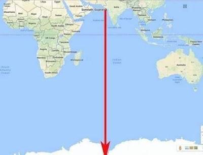 baan stambh to antarktik google map