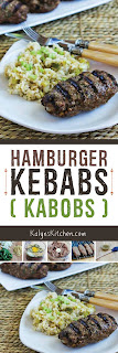 Hamburger Kebabs (Kabobs) found on KalynsKitchen.com
