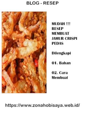 MUDAH !!! Resep Cara Bikin Jamur Crispi Pedas
