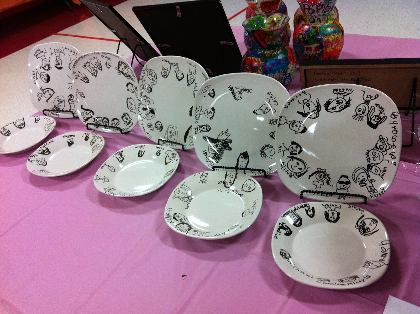 Chumleyscobey Art Room Faces On Plates 1st Grade Auction