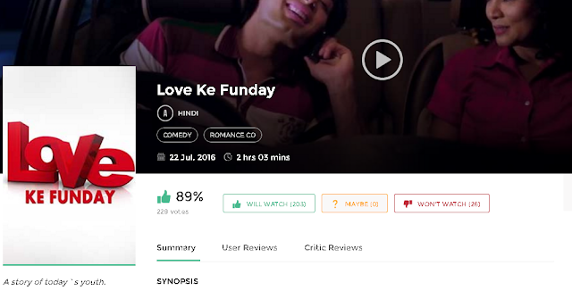 Love Ke Funday (2016) Hindi Movie 300MB 700MB