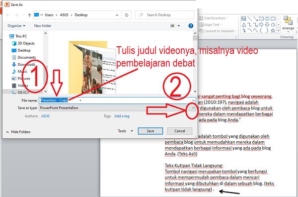 Cara membuat PowerPoint Menjadi Video Pembelajaran Jarak Jauh